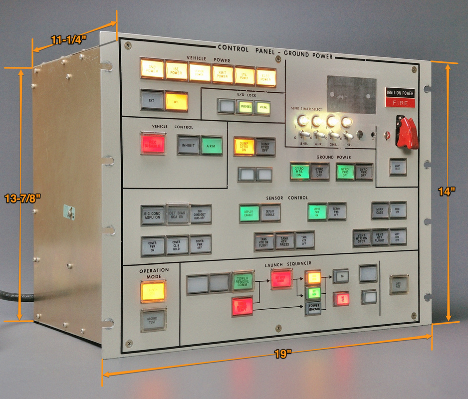 Vehicle Control Panel : Vehicle launch ground control panel