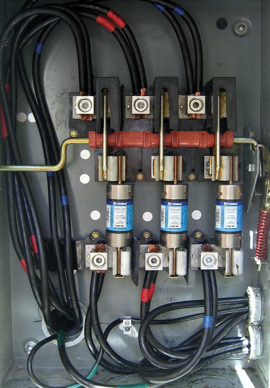 Propology Blog Electical Box Fuses A Typical Fused Electrical With Main Cut Off Switch